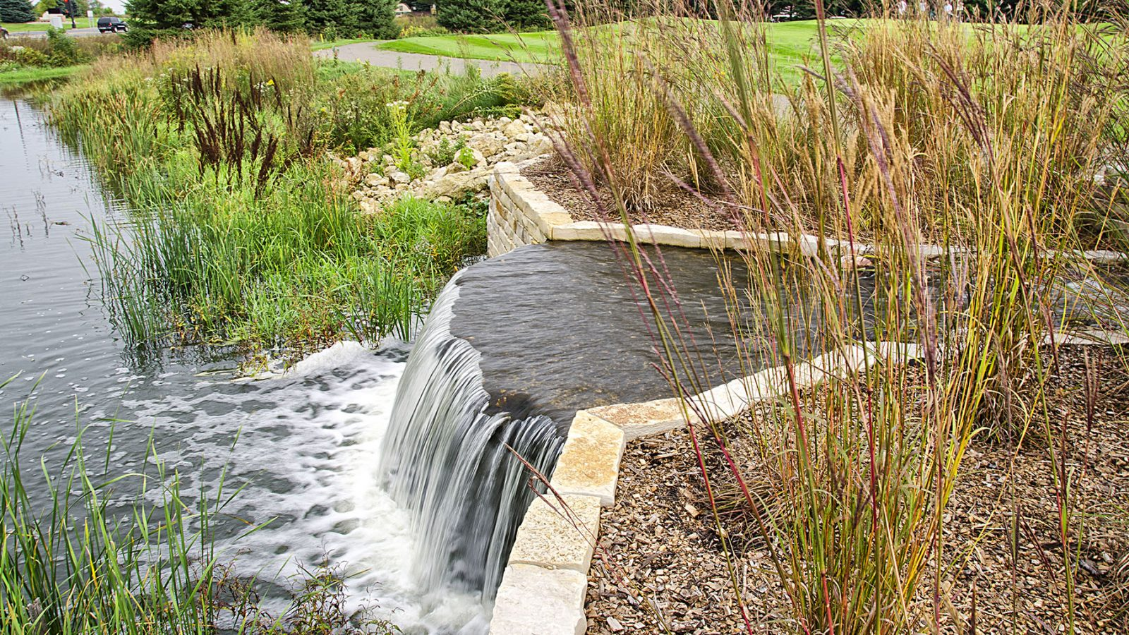 Eagle Valley stormwater management water feature