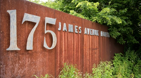 175 James Avenue North sign Water in Motion